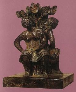 Coppia1995 bronzo h cm 42x29x29